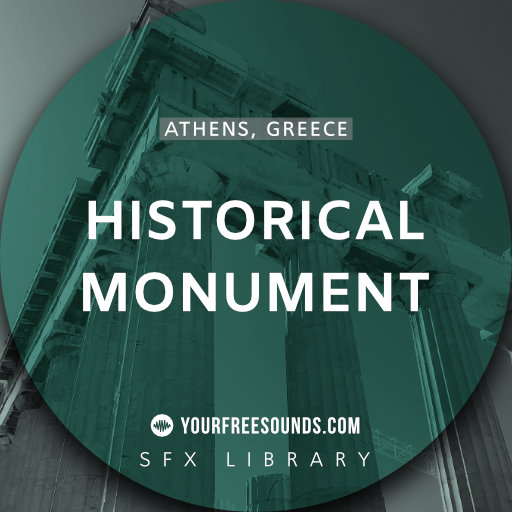 Historical Monument Athens (Tourist walla sound effects)